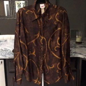 Mondi Silk Button Down Blouse.  Made in Germany